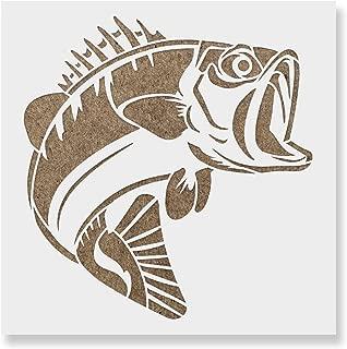 bass fish stencil