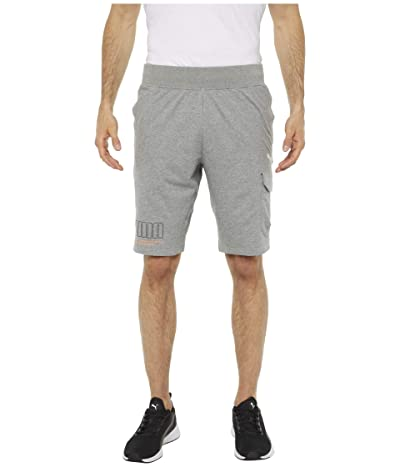 PUMA Pivot Pocket Sweatshorts (Medium Gray Heather) Men