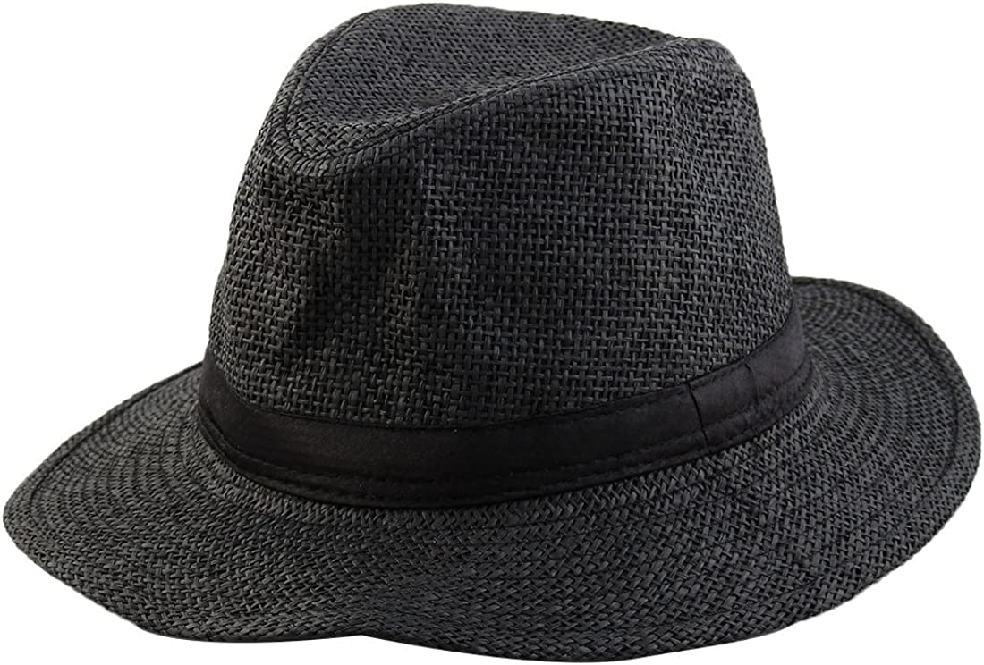 Latest item uxcell Max 71% OFF Men Summer Outdoor Straw Braided Western Style Wide Brim