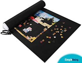 Simple Being Jigsaw Puzzle Roll Up Mat, Puzzle Saver Storage Holder Felt Board
