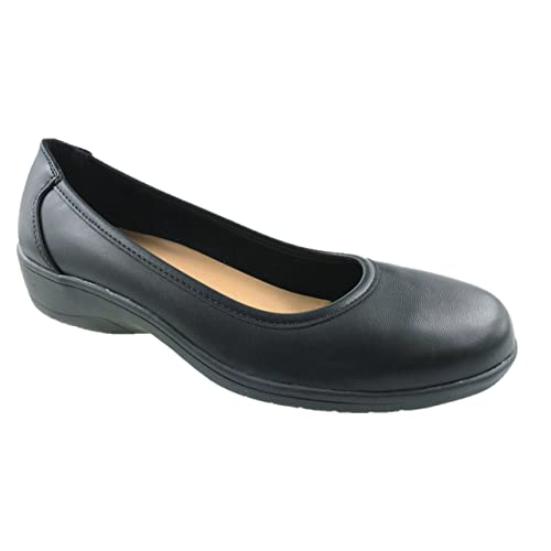 1aca6be6c71 Donna Ladies Extra Wide Fit EE Slip On Flat Soft Comfort Walking Shoes Size  UK 4