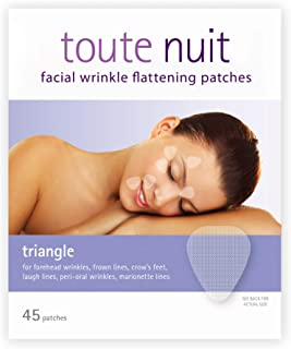 Toute Nuit Facial Wrinkle Flattening Patches, Triangle - Forehead, Around Eyes & Lips (Anti-Wrinkle Patches/Face Tape) - 4...
