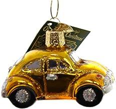 Old World Christmas Buggy Glass Car Love Bug Vw 46002 Gold