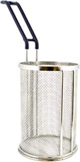 Lot45 Stainless Steel Pasta Insert, Pasta Strainer Basket Mesh Strainer, Noodle Strainer with Handle for 1 Pound Pasta