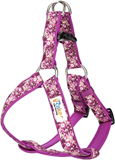 Rnker Step-in Harnesses, no Pull, Flowers Pattern hot Stamping, Neoprene Padded, Adjustable Walking, Training Dog Harness