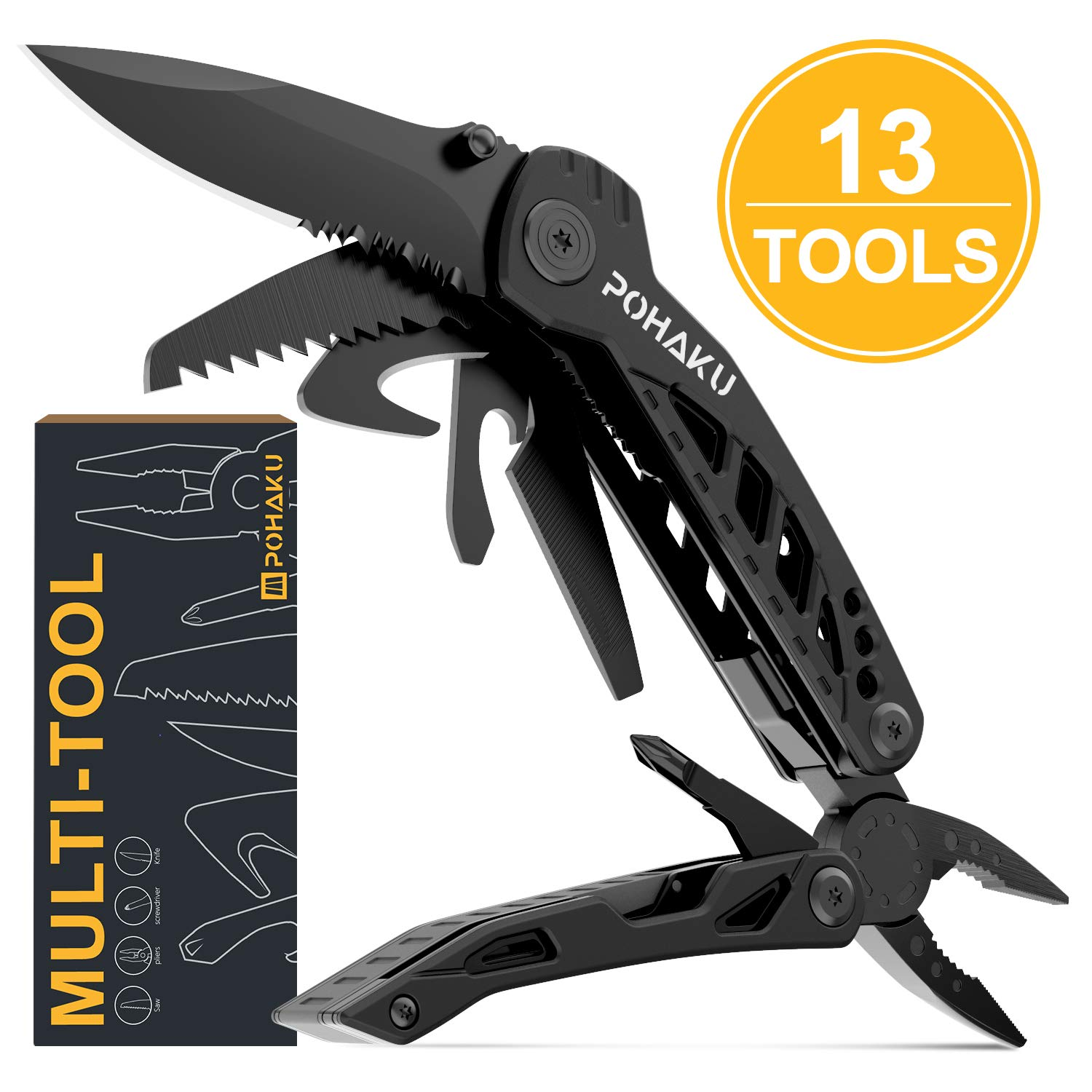 Multitool Portable Multifunctional Spring Action Survival
