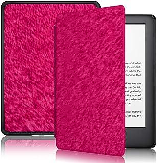 Capa + Pelicula para Novo Kindle Basico 10a. geração com iluminação embutida Função Liga/Desliga (Modelo J9g29r) (Pink)