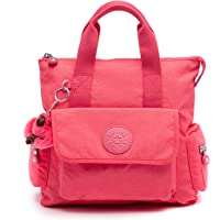 Kipling Revel 2-in-1 Convertible Bag, Wear 2 Ways, Zip Closure (Grapefruit Orange Tonal)
