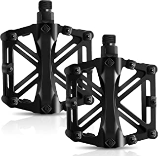 Bicycle Pedals, Mountain Cycling Bike Pedals Aluminum Anti-Slip Durable Sealed Bearing Axle for Mountain Bike BMX MTB Road...
