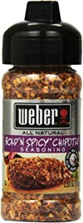 Weber Bold'N Spicy Chipotle Seasoning - All Natural - Net Wt. 2.5 OZ (71 g) Each - Pack of 3