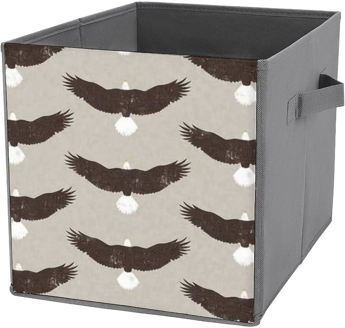 MMJUI Bald Eagles Brown tan Fab Free shipping anywhere in the nation Folding Storage Manufacturer OFFicial shop Collapsible Bins