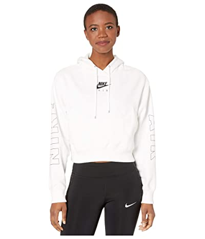 Nike NSW Air Hoodie Fleece (White/Ice Silver) Women