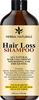 Hair Loss Shampoo - Infused with Biotin, Rosemary Oil, Natural Ingredients - Provides Hair Growth Stimulation, Hair Thickening, Nourishment and adds Volume, For All Hair Types Men and Women 16 fl Oz