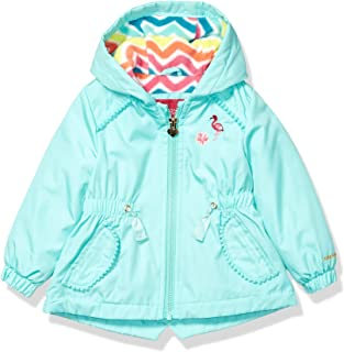 London Fog Baby-Girls L119504 Fleece Lined Midweight Jacket with Rouched Waist Jacket