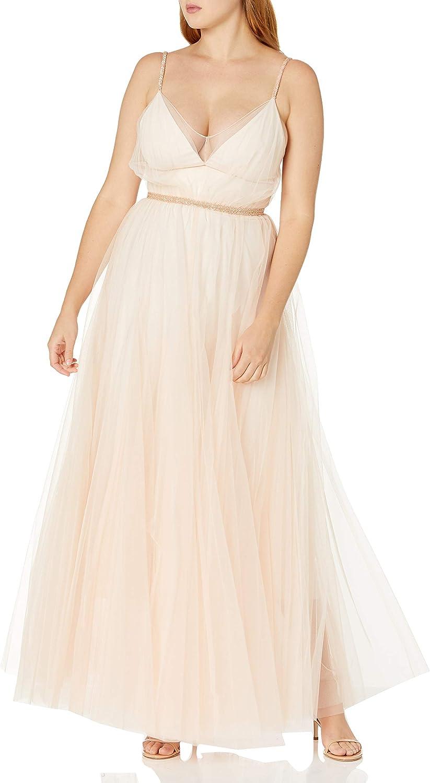 Amazon Com Bcbgmaxazria Women S Tulle Dress With Beaded Trim Clothing