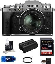 Fujifilm X-T4 Mirrorless Digital Camera with XF 18-55mm f/2.8-4 R LM OIS Lens (Silver) Bundle, Includes: SanDisk 64GB Extr...