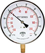 Winters PCT Series Stainless Steel 304 Dual Scale Contractor Pressure Gauge, 30