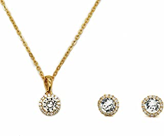 Necklace and Earrings Set with Swarovski Crystals for Women