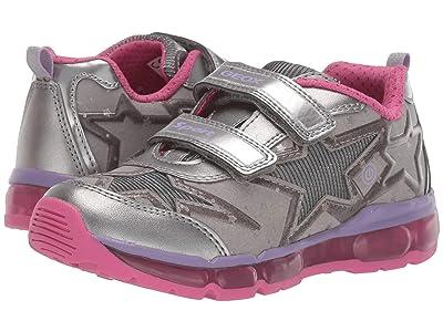 Geox Kids Jr Android 24 (Little Kid/Big Kid) (Silver/Fuchsia) Girls Shoes