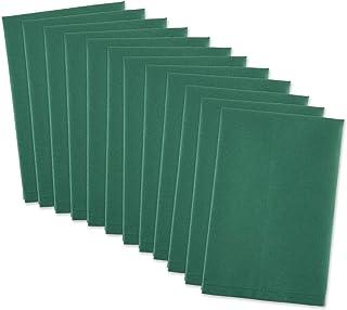 "DII 100% Cotton, Machine Washable Everyday Basic Buffet Napkin, 16 x 16"", Dark Green, Set of 12"
