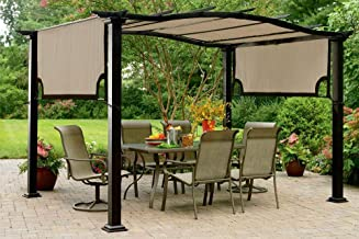 essential garden curved pergola replacement canopy