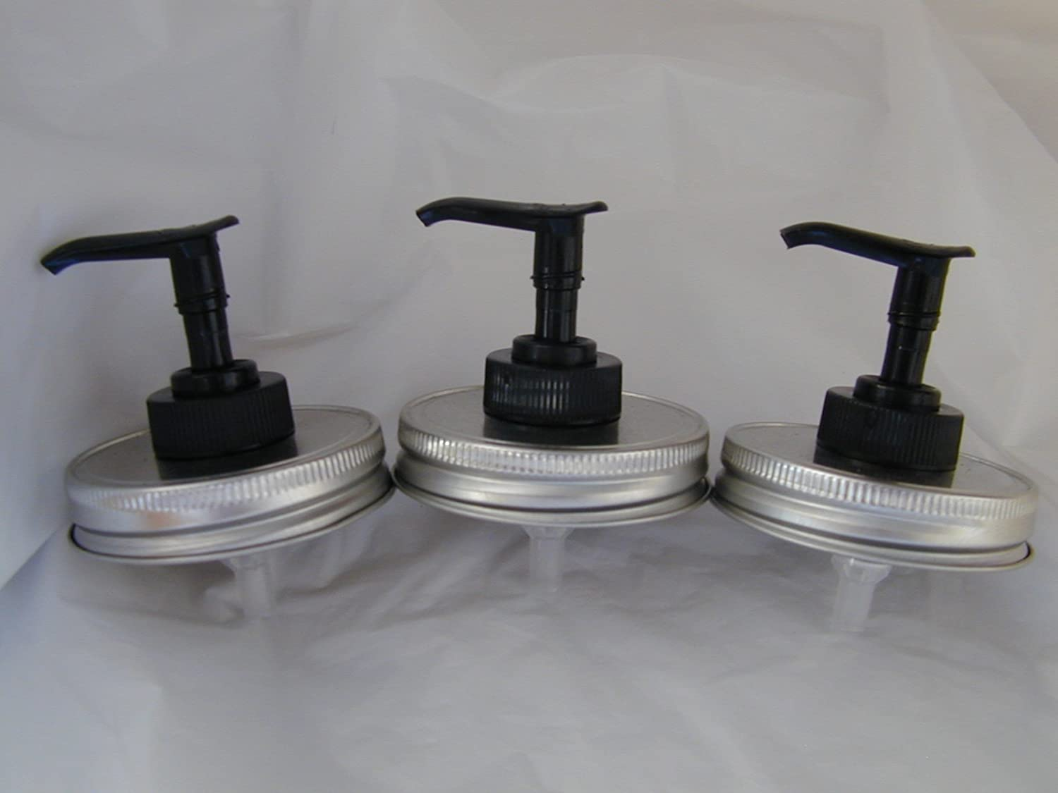 Silver Lid with Black Pump Triple Al sold out. It is very popular Pack Mason Soap Jar Lotion d -