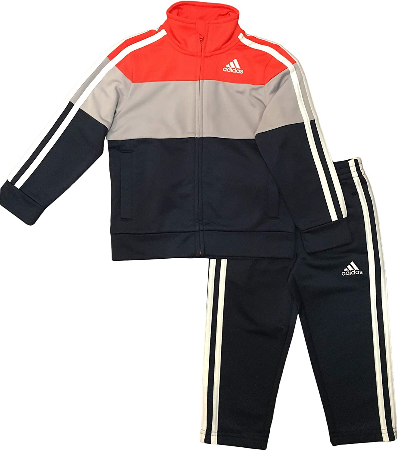 Adidas Boys' Tricot Jacket and Pant Red Lowest Indianapolis Mall price challenge 6 Tracksuit Set Orange