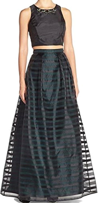 Xscape Women's Striped Embellished Sheath Dress