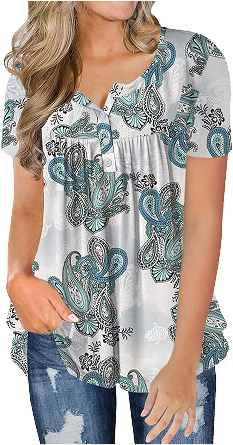 Floral Blouses for Women Short Very popular Sleeve Phoenix Mall Bohemian Summer Style Busi