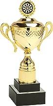 Trophy Monster Darts Gold Large Cup Award Jaarlijks Perpetual Gebruik met Single of Double Base | Standaard Embleem of Uw ...