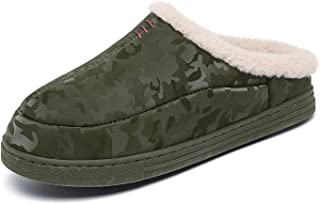 CELANDA Winter House Slippers for Women Men Memory Foam Shoes Warm Plush Slippers Waterproof Cotton Shoes Indoor Outdoor N...