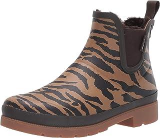 Tretorn Women's LINAWNT2 Rain Shoe, Camel Multi/Tiger Print