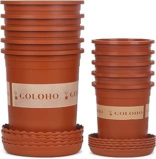 10 Set Nursery Plant Pots with Pallets - 5 X 1 Trade Gallon & 5 X 4.5 inch Pots