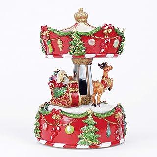 idea regalo per la scuola FAMKIT Carillon natalizio a manovella in legno di pino naturale