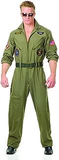 Charades Men's Wingman Flight Jumpsuit And Belt