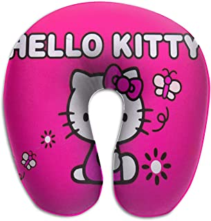 WEIBING Hello Kitty Rose U-Shaped Travel Pillow Good Support for Neck and Back – Perfect for Trips,Office and School Napping