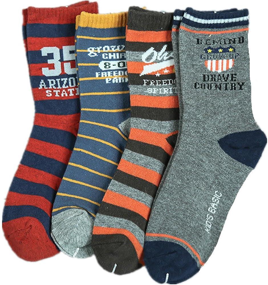 Kids Boys Cotton Socks Novelty Design Crew Socks 10 Pairs