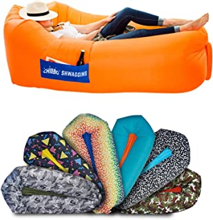 Chillbo SHWAGGINS 2.0 Best Inflatable Lounger Portable Hammock Air Sofa and Camping Chair Ideal Gift Inflatable Couch and ...