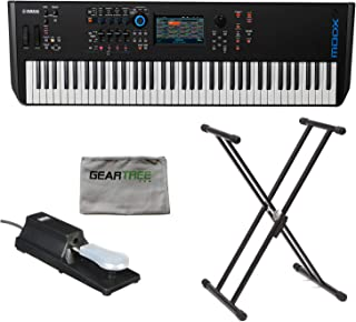 $1499 » Yamaha MODX7 76-Key Semi-Weighted Synthesizer Keyboard w/Sustain Pedal, Cleanin