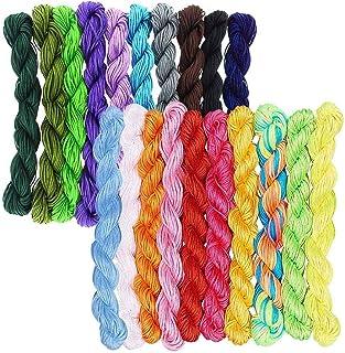 Rayong 20 pièces Cordon en Nylon de Soie 1mm Haute Qualité Fil de Nylon Cords pour Bracelet Collier Fabrication de Bijoux ...