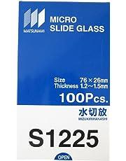 松浪硝子工業 スライドグラス 水切放 t1.3 100枚入 S1225