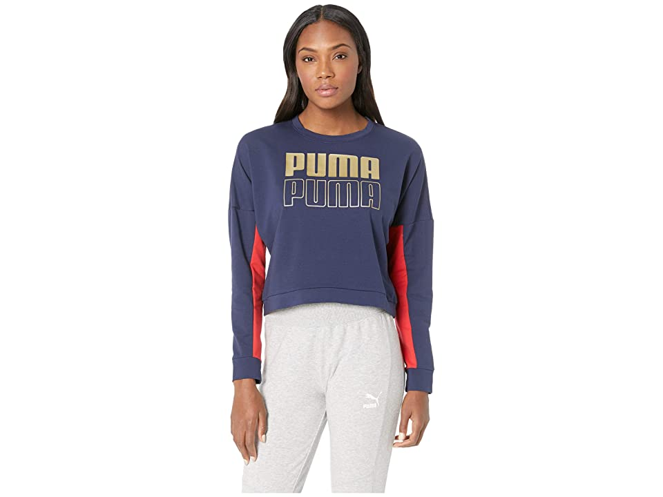 PUMA Modern Sport Crew Sweat (Peacoat/Gold) Women