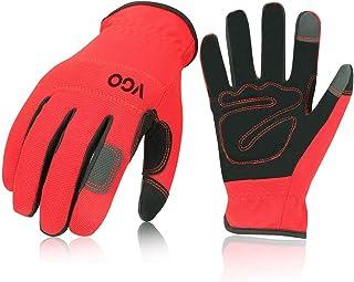 Vgo 1 Pair/3Pairs Safety Work Gloves,Builder Gloves,Gardening Gloves,Light Duty Mechanic Gloves(NB7581)