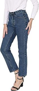 Women's Straight Leg Jeans High Rise 90s Vintage Mom Jean Boyfriend Denim Pants