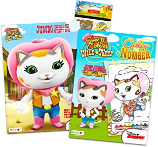Disney Sheriff Callie Coloring Book Super Set ~ 2 Activity Books with Over 30 Stickers (Sheriff Callie Party Supplies)