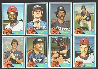 1981 Topps Traded - HOUSTON ASTROS Team Set