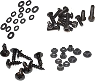 Black Standard Motorcycle Fairing Bolt Kit For Yamaha YZF-R6 2006-2007 Body Screws, Fasteners, and Hardware