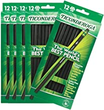 Dixon Ticonderoga Wood-Cased #2 Pencils, Case of 72, Black