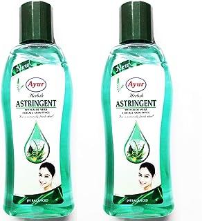 Ayur Herbals Unisex Astringent 3. 3 Oz pH Balanced with Aloe Vera, 100ml - Pack of 2 Bottles (EBBEAA07079)