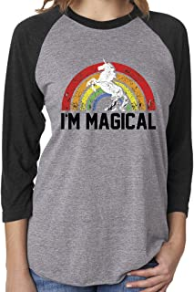 I'm Magical Rainbow Unicorn 3/4 Sleeve, Tank and Tunic Tshirt